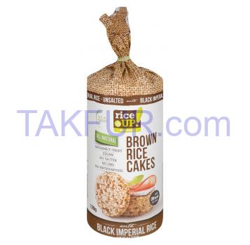 Хлебцы Rice Up рисовые цельнозерновые с гималайск солью 120г - Фото