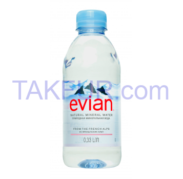 Вода минеральная Evian негазированная 0,33л - Фото