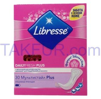 Прокладки Libresse Daily fresh plus Multistyle ежеднев 30шт - Фото
