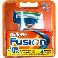 Кассеты д/брит Gillette Fusion смен 4шт - Фото