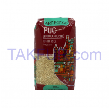 Рис Art Foods длиннозернистый шлифованный 1000г - Фото