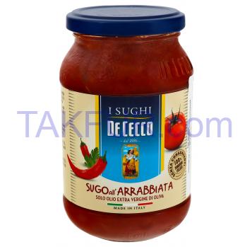 Соус De Cecco томатный с острым перцем чили стерилизов 400г - Фото