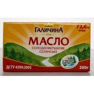 Масло Галичина крестьянское 72,6% 200г - Фото