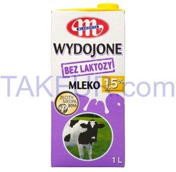 Молоко Mlekovita коровье питьевое без лактозы 1,5% 1л - Фото