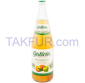 Сок Galicia Яблочный 1л стеклянная бутылка - Фото