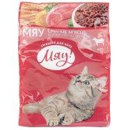 Корм Мяу! сухой для кошек с мясом 400г Фото - 1
