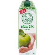 Нектар яблочный Наш Сок 1.43л Фото - 1